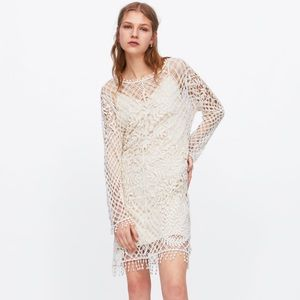 NWT • Zara • Crocheted Dress